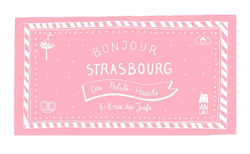 Poster sérigraphié de Strasbourg